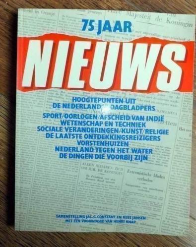 """75 jaar nieuws"""" uitgegeven in 1983 door Elsevier."""