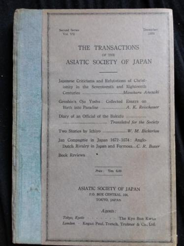 Asiatic society of japan.