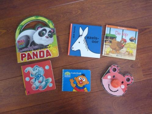 6 kinderboek babyboekjes Panda Kip Ezelsoor Bert Beer Olifan
