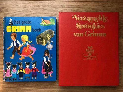 Sprookjes van Grimm - 2 vintage boeken uit de jaren 70