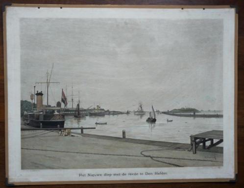Oude schoolplaat van de Marine Haven in Den Helder Nw Diep