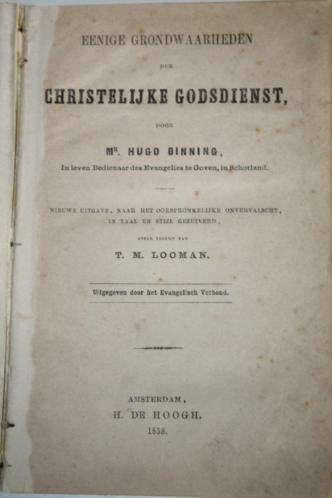 Hugo Binning - Eenige grondwaarheden (1858)