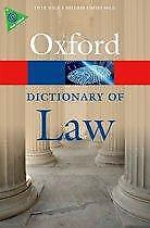 A Dictionary of Law 9780199664924