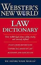Websters New World Law Dictionary 9780764542107
