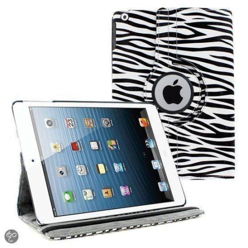 Ntech iPad Air 360 Rotatie Hoes, Cover, Case Zebra Design k