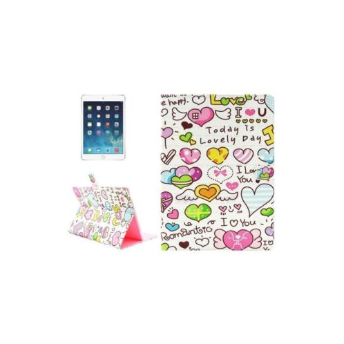 iPad Pro 12.9 - hoes, cover, case - PU leder - Love text