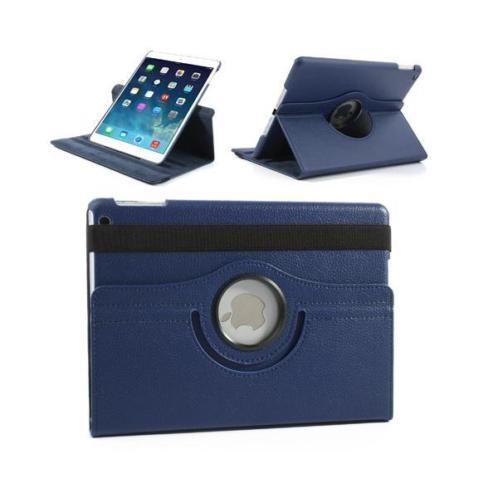iPad Pro 9.7 lederen hoes hoesje 360 graden Donker Blauw