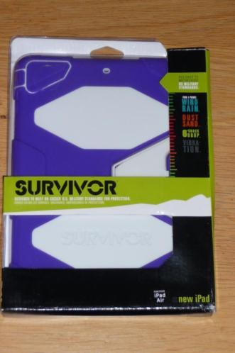 Griffin Survivor Apple iPad Air 1 hoes paars-wit