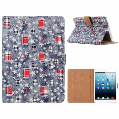 Ntech iPad mini 1 / 2 / 3 Ster & Denim Design Booktype Kuns