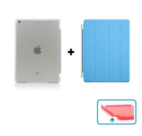 iPad 2 3 4 Smart Cover Smartcover hoes hoesje - DUO BLAUW