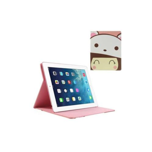 iPad 2, 3, 4 - hoes, cover, case - PU leder - Cute Girl