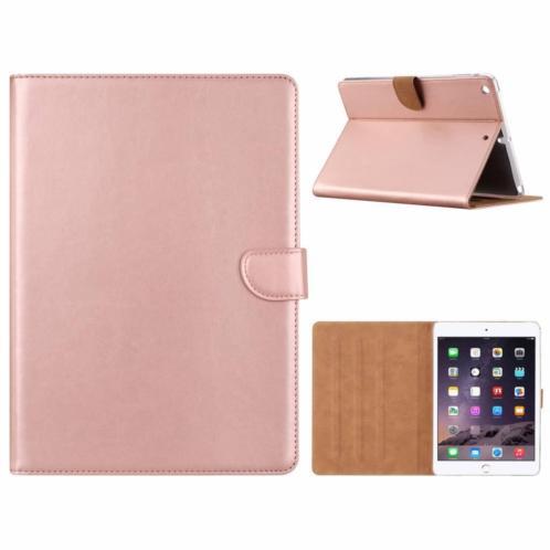 Ntech iPad Air Rose Goud Booktype Kunstleer Hoesje Met Pasj