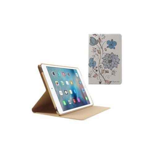 iPad mini 4 - hoes, cover, case - PU leder - Elegante bloem