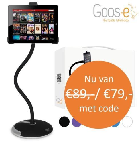 Goos-e flexibele iPad & tablethouder - Compleet - Zwart