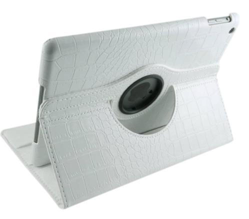 iPad Air 1 Krokodillen lederen hoes 360 graden leer - Wit