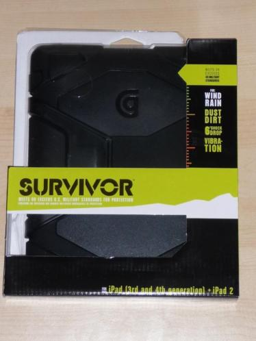 Griffin Survivor Apple iPad 2/3/4 hoes zwart Extreme Case