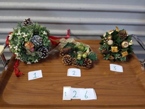 Kerststukjes, diverse, zie foto's