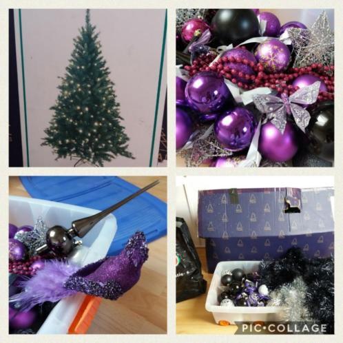 (Foto's) Complete kerstboom met verlichting en versiering