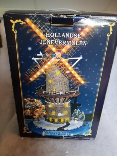 Typisch Hollands Jenevermolen kerstdorp