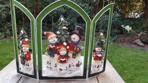 Superleuk 3 luik kerst raamscherm raam decoratie