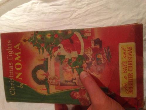 Oude antieke kerstlampjes kerstverlichting noma