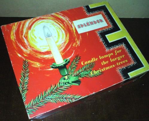 Splendor Vintage Kerstverlichting - 16 kaarslampjes in doos
