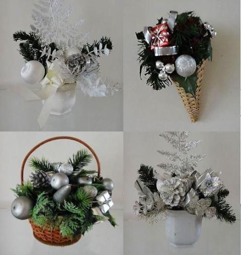 Zilver/wit kerst spullen 4 voor €5,00!