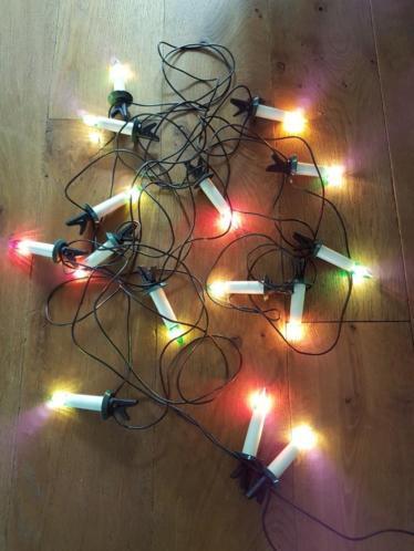 Kerstverlichting met gekleurde lichtjes, prima staat