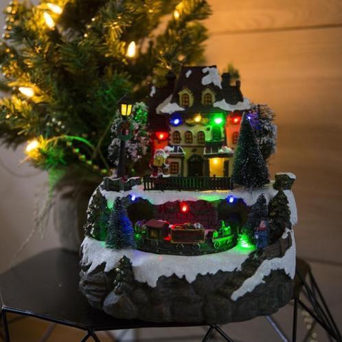 Kaemingk Kersthuisje Trein LED multikleur
