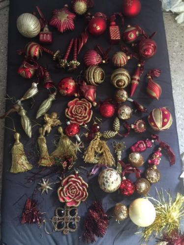 Rode / goude kerst ballen /spullen