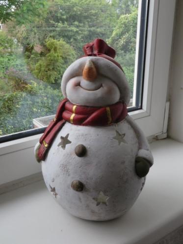 Keramiek kerst sneeuwman