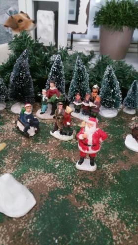 Kerstdorp aankleding