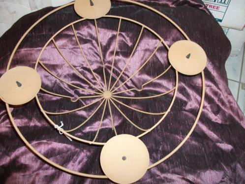 Partij decoratie mand staal roest kleurig (nieuw) kerst 12 x