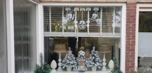 Herbruikbare statische raam stickers Kerst Maison