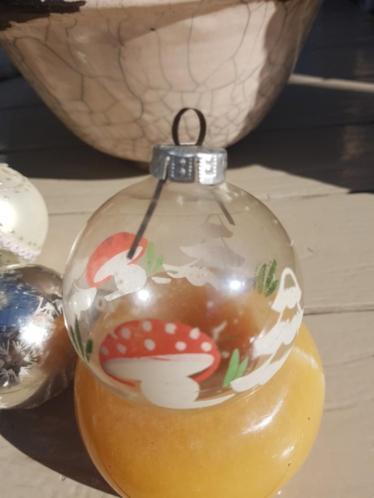 Antieke kerstballen lot vintage brocante Kerst