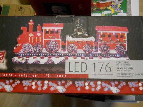 kersttrein met led verlichting zie de foto's nieuw in doos