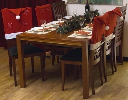 Stoelhoezen kerst,leuke stoelhoes.Zet uw stoel kerstmuts op!