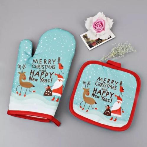 Kerst oven handschoen set