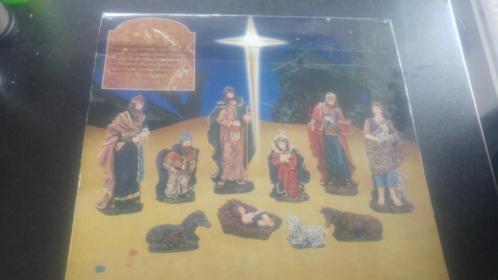 10 delige kerststal figuren nieuw