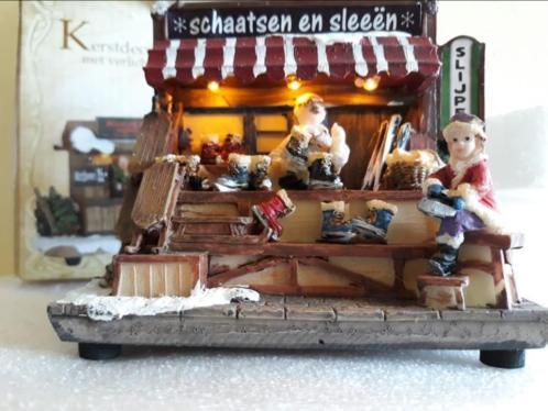 Schaatsen en sleeën en Kerstbomen van Piet (geen Lemax)
