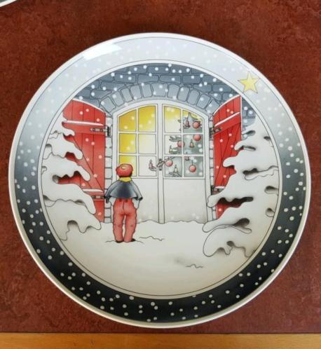 """Kerstschaal Villeroy en Boch """" Heilige Nacht"""""""