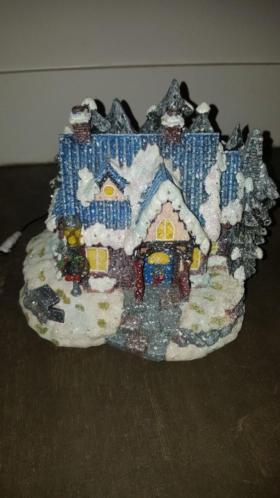 Kersthuisje met glitters