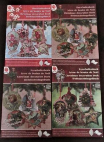 4 Kerstballen Deco time boeken voor piramide Kerstb te maken