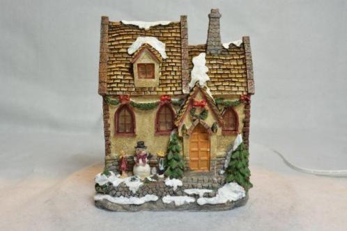 X-Mas Collection Kerstdorp Huisje met 2 Kinderen 2