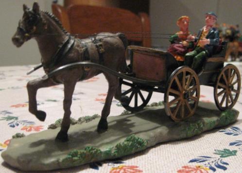 LEMAX koets: open koets met duo en één paard