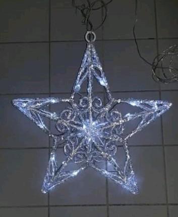 Verlichte acryl kerstster 40 cm voor binnen en buiten