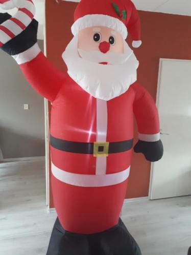 opblaasbare kerstman met led verlichting