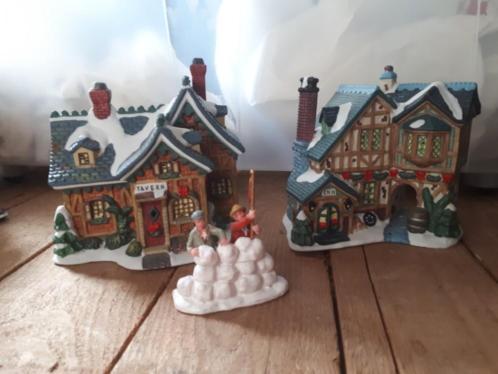Kerstdorp ongeveer 15 huisjes, boompjes etc