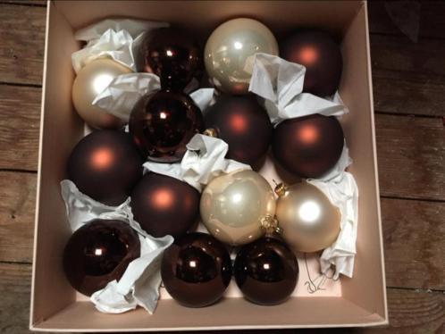 50 Mondgeblazen glazen kerstballen