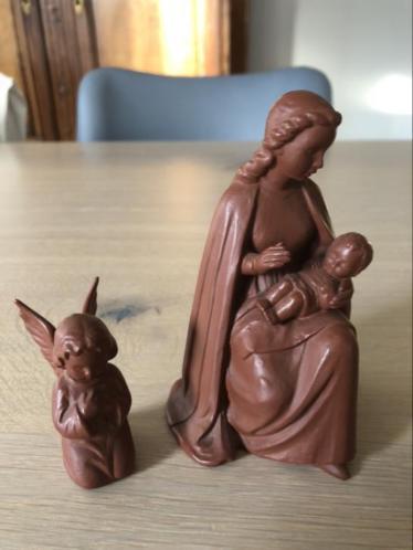 Goebel maria met kindje en engel kerst